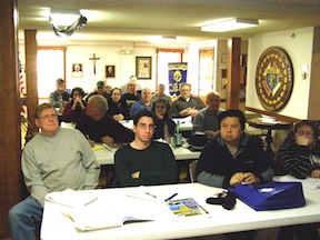 The 17 students in the Charter Oak Radio Society Extra Class License Course